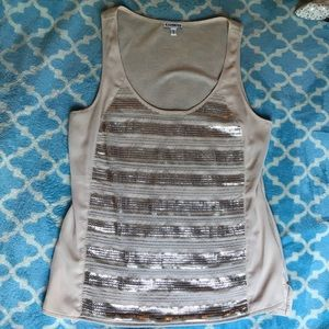 Express tank with sequins